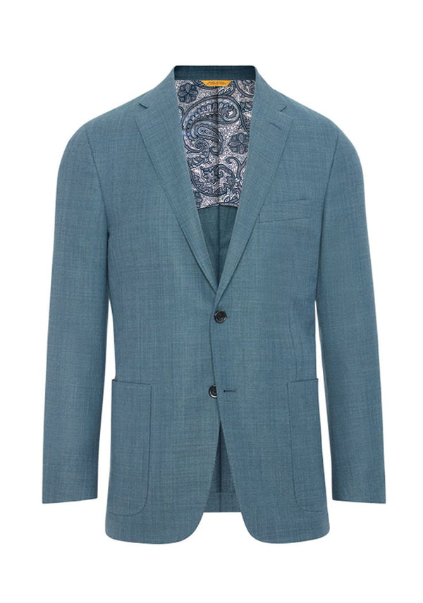 Hickey Freeman Teal Mesh Global Guardian Blazer