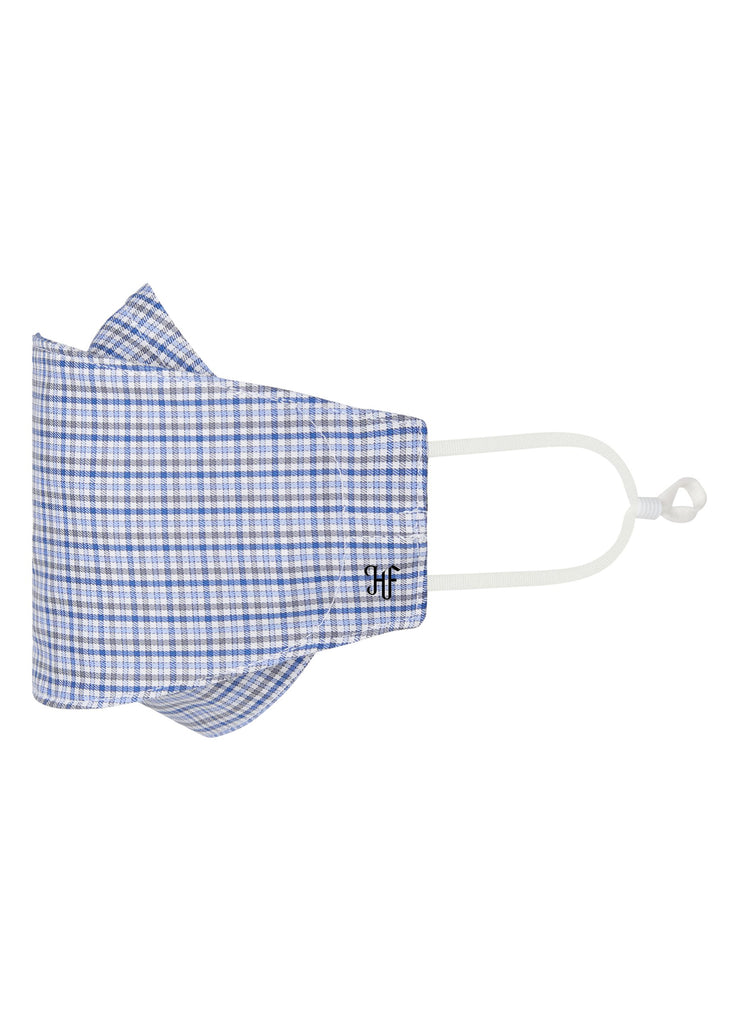 Blue Twill Check Mask