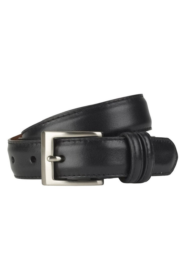 Black Glazed Napa Calf Belt