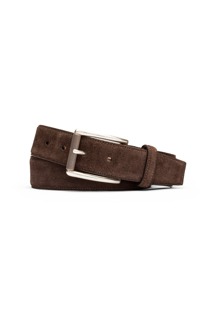 Chocolate Suede Calf Belt