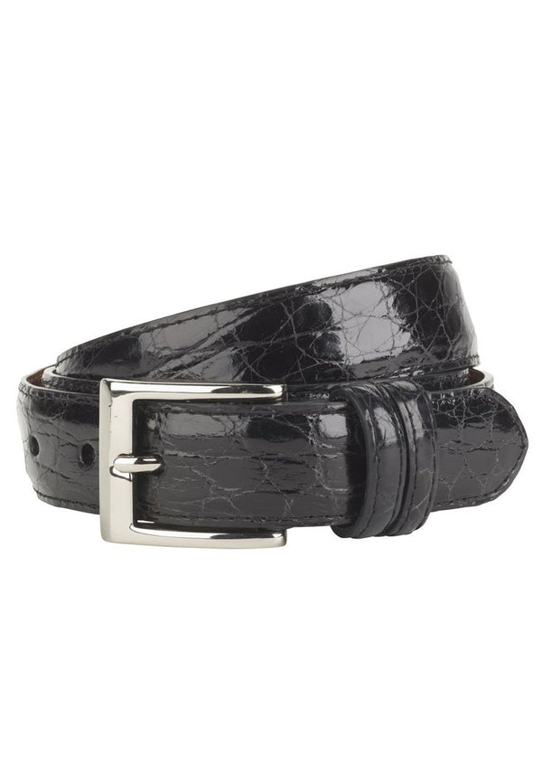 Black Crocodile Belt