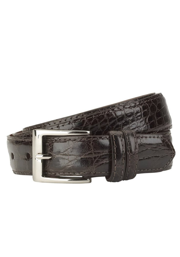 Chocolate Crocodile Belt