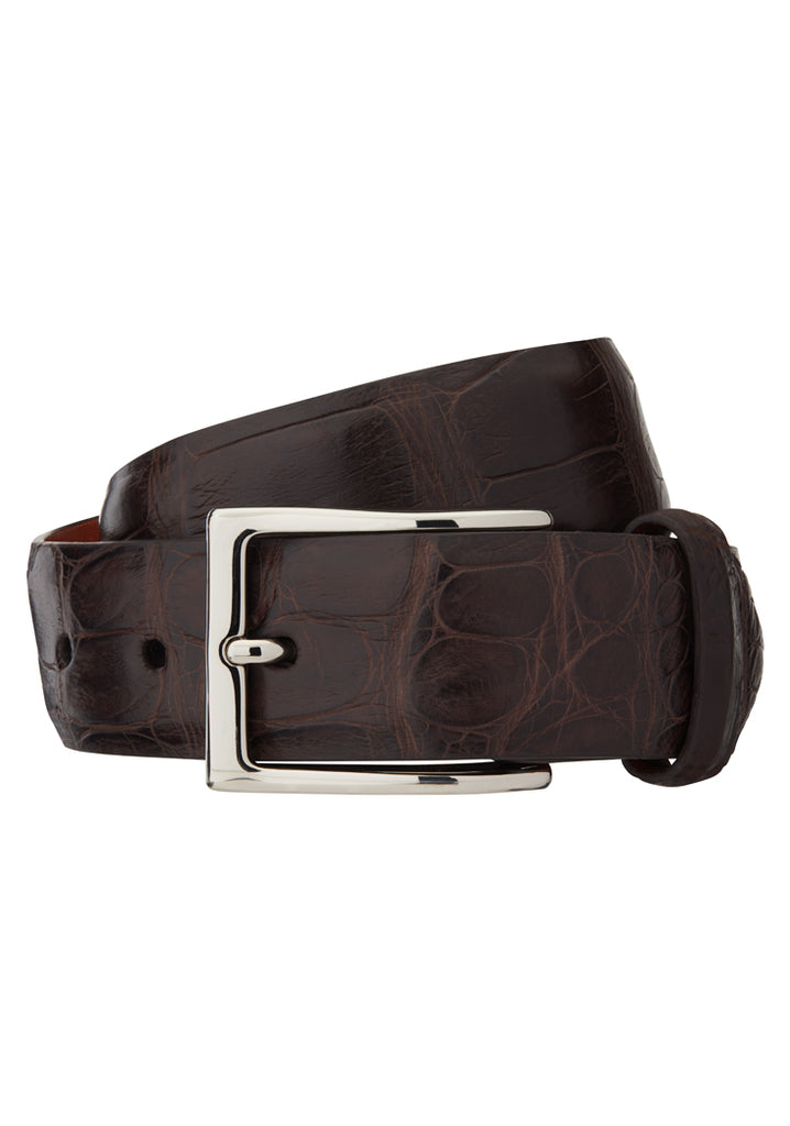 Chocolate Matte Alligator Belt