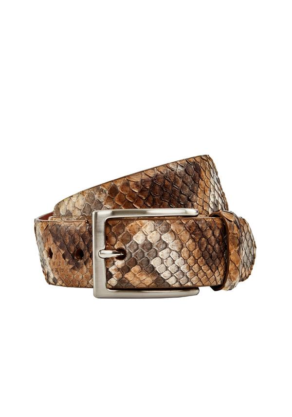 Python Leather Belt