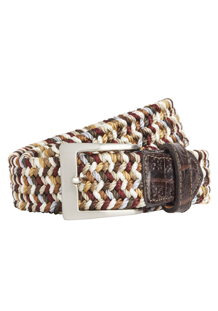 Driftwood Sport Stretch Belt With Crocodile Tab