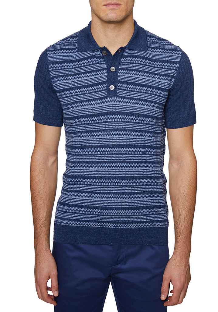 Navy Italian 3 BUTTON POLO