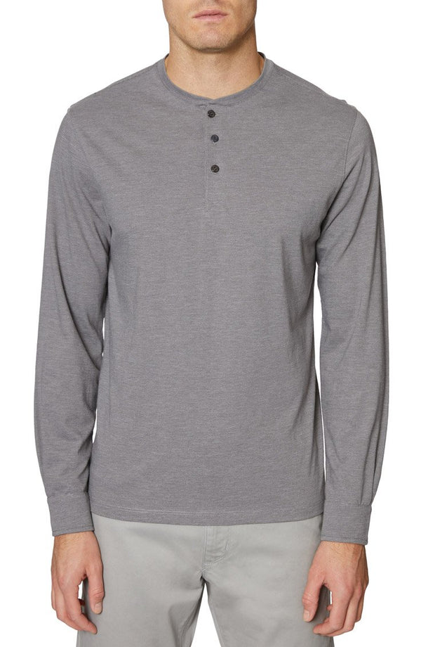 Heather Grey Long Sleeve Henley