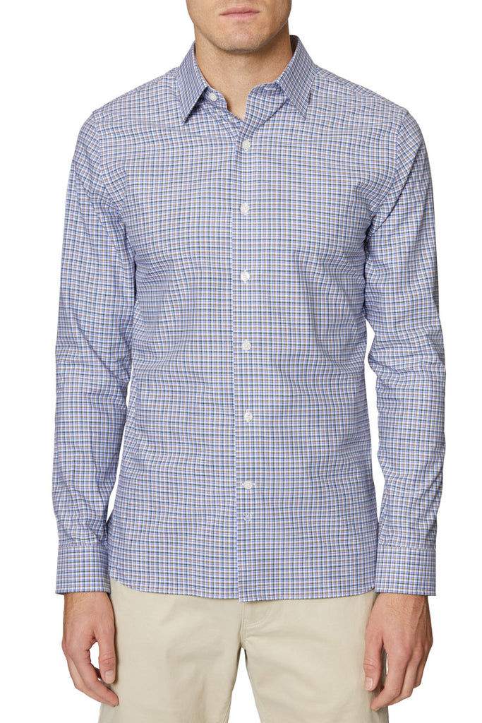 Blue Christopher Yarn Dye Plaid Shirt