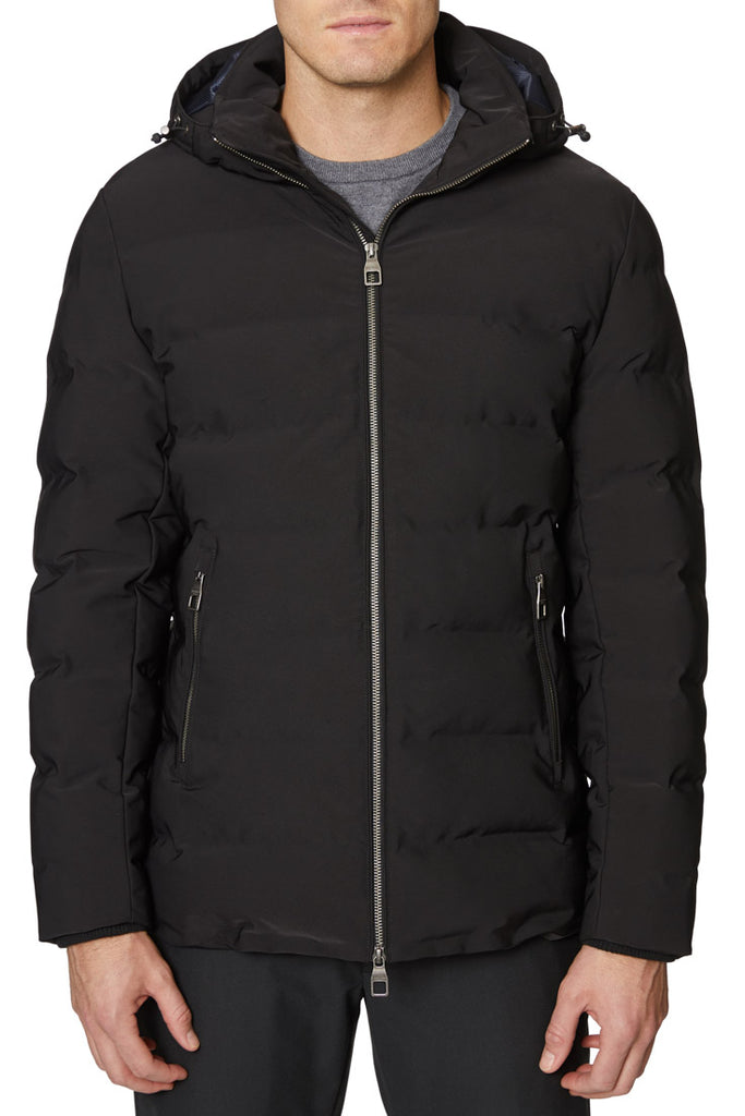 Black Seam Seal Quilted Jacket