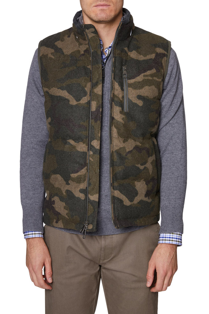 Charcoal Camo Quilted Vest