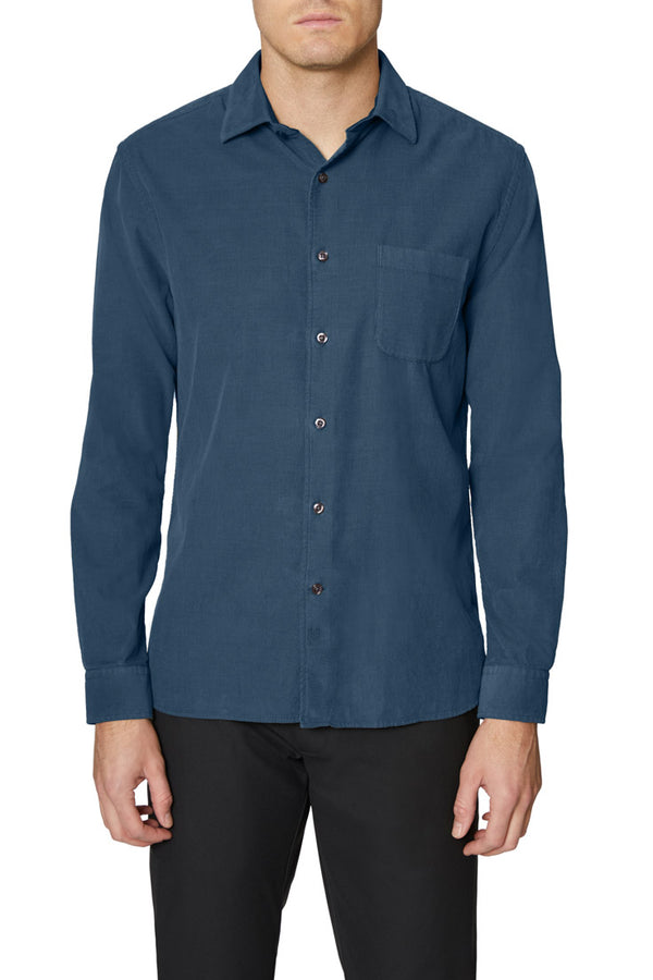 Navy Mercer Cotton Corduroy Shirt