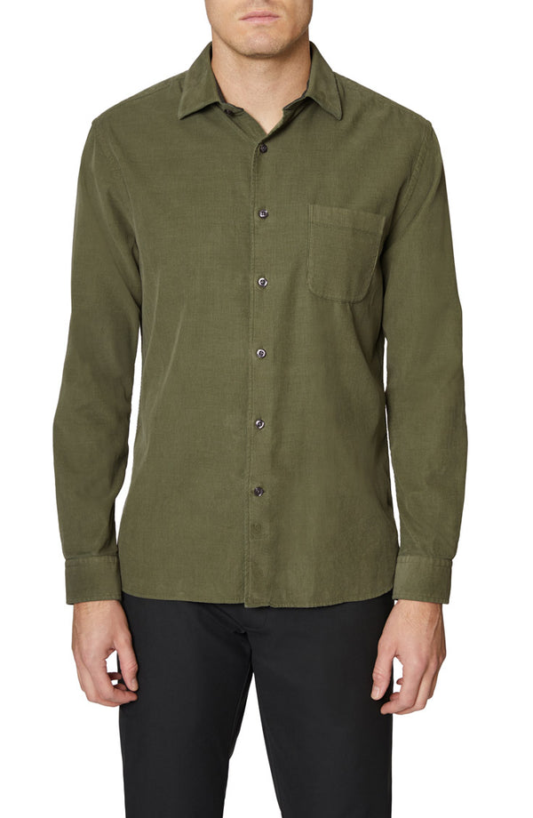 Olive Mercer Cotton Corduroy Shirt
