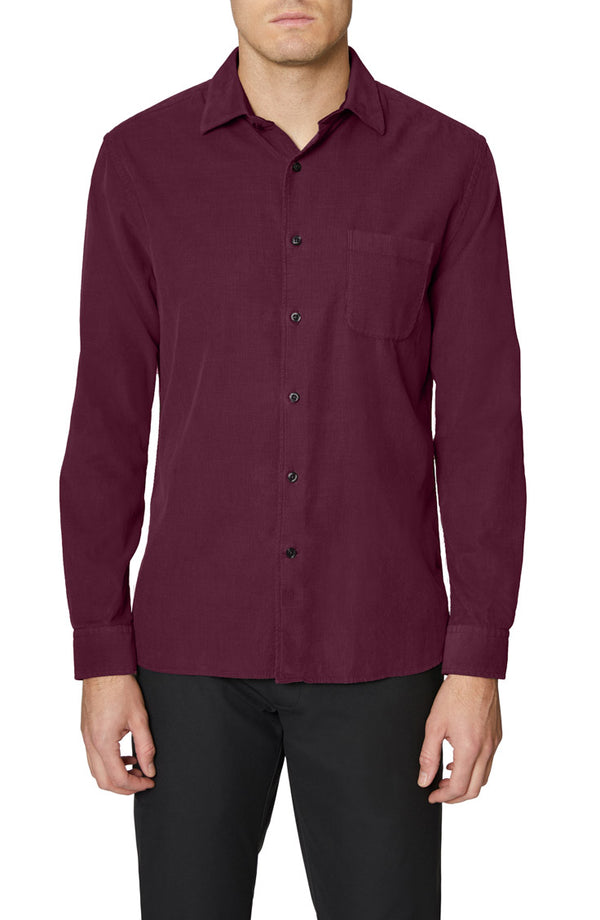 Wine Mercer Cotton Corduroy Shirt
