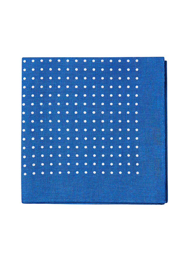 Royal Blue Dots Pocket Square