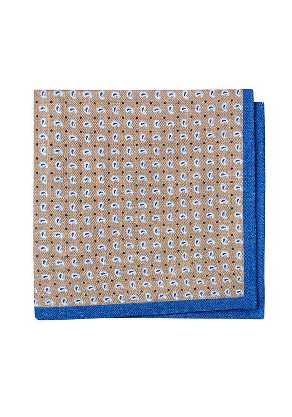 Paisley Linen Pocket Square