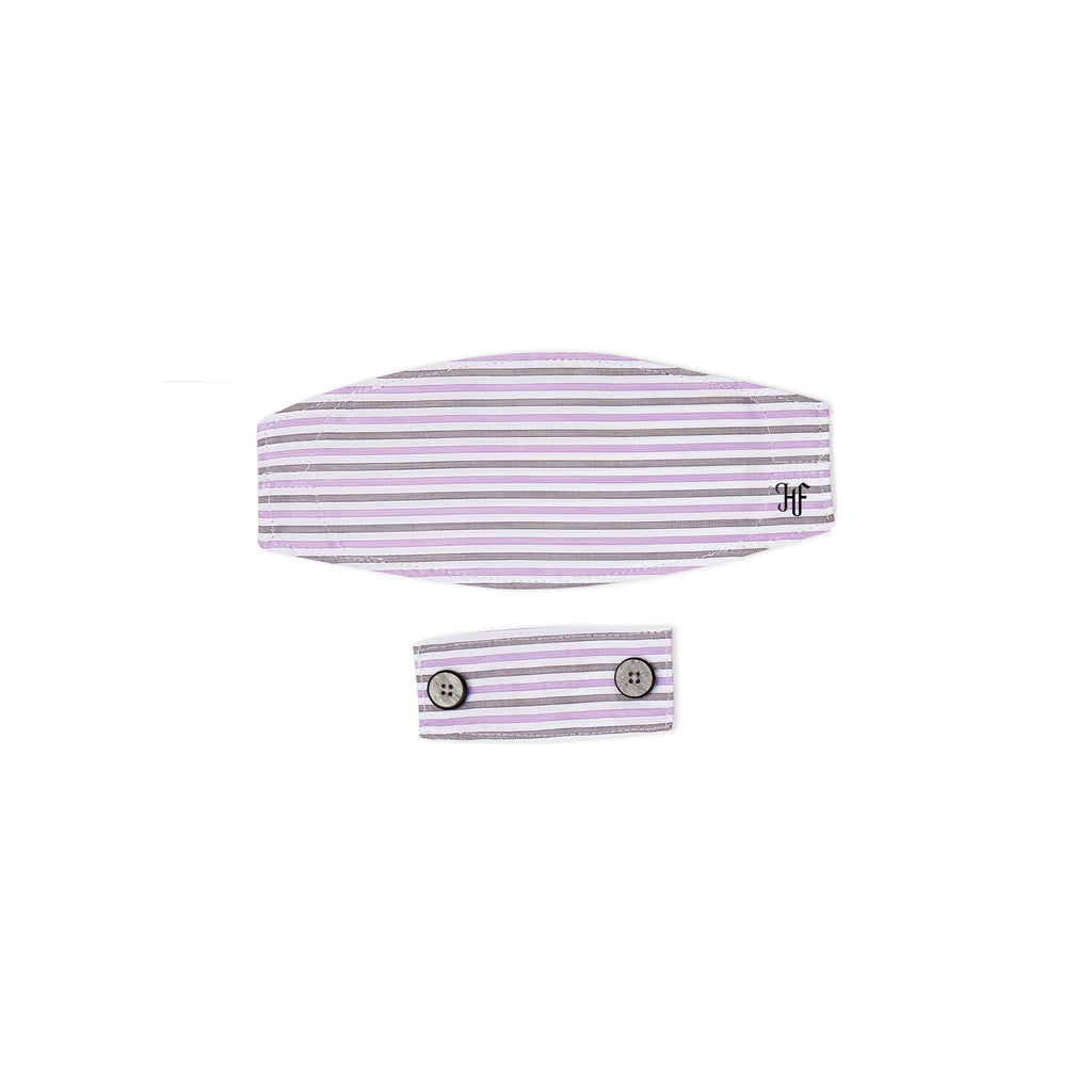 Grey Purple Stripe Mask
