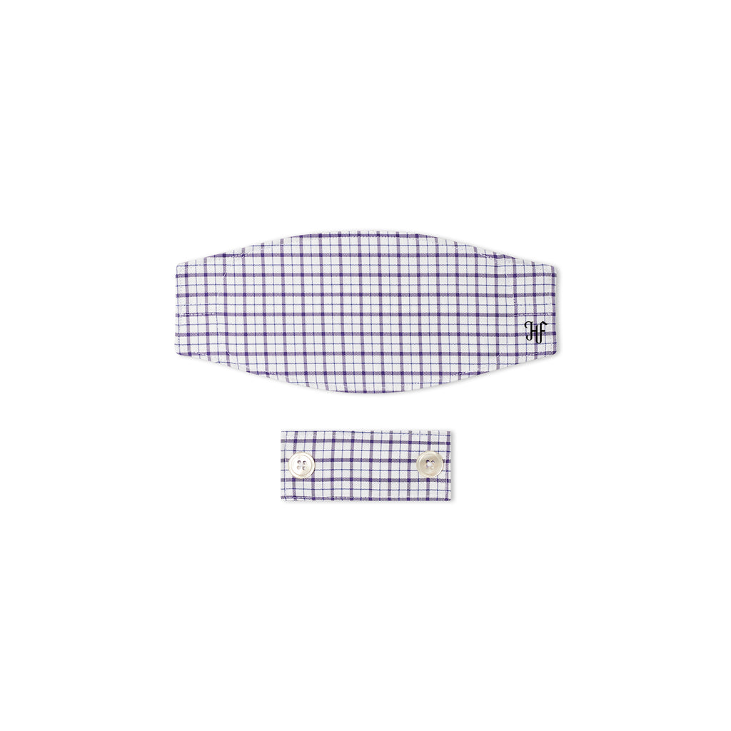 Plum Window Pane Mask