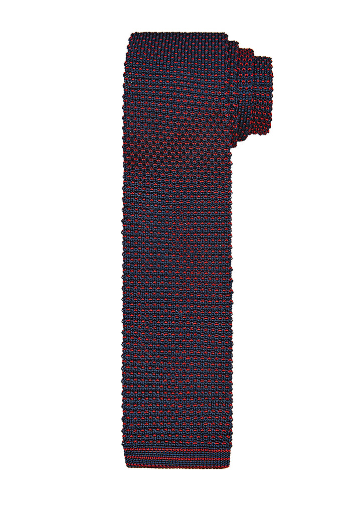 Red Knit Silk Tie