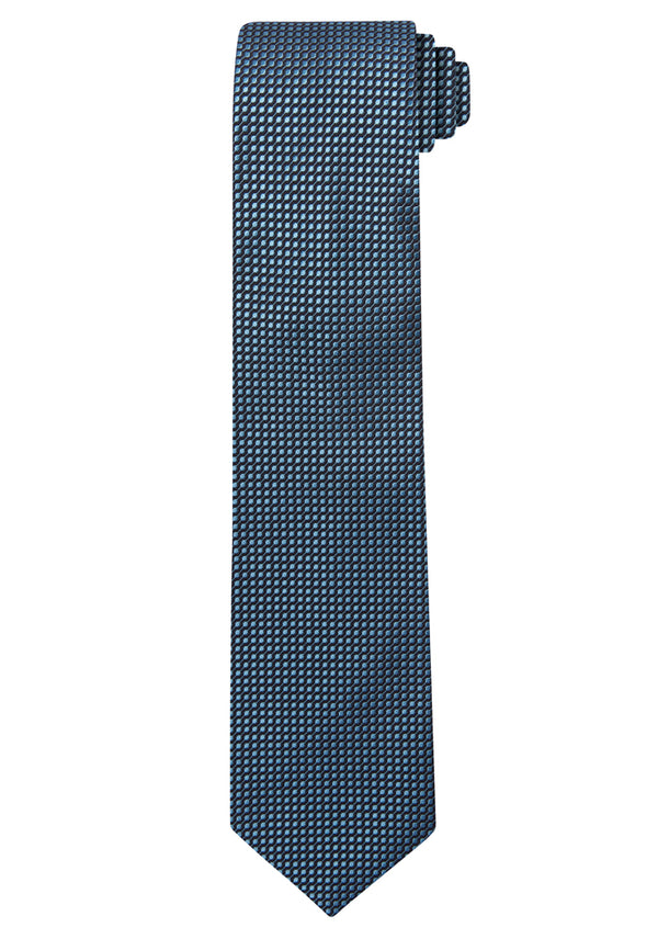 Blue Jacquard Optic Solid Tie
