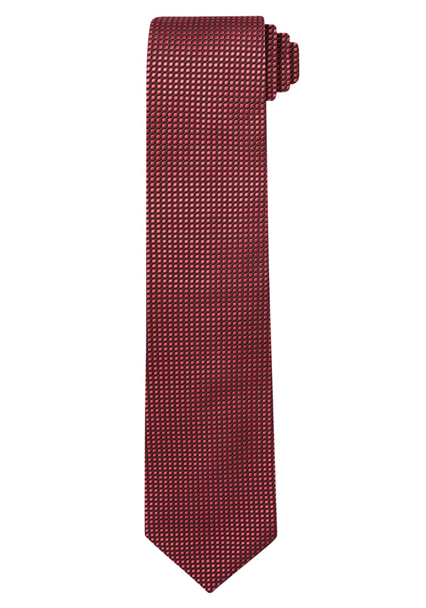 Red Jacquard Optic Solid Tie