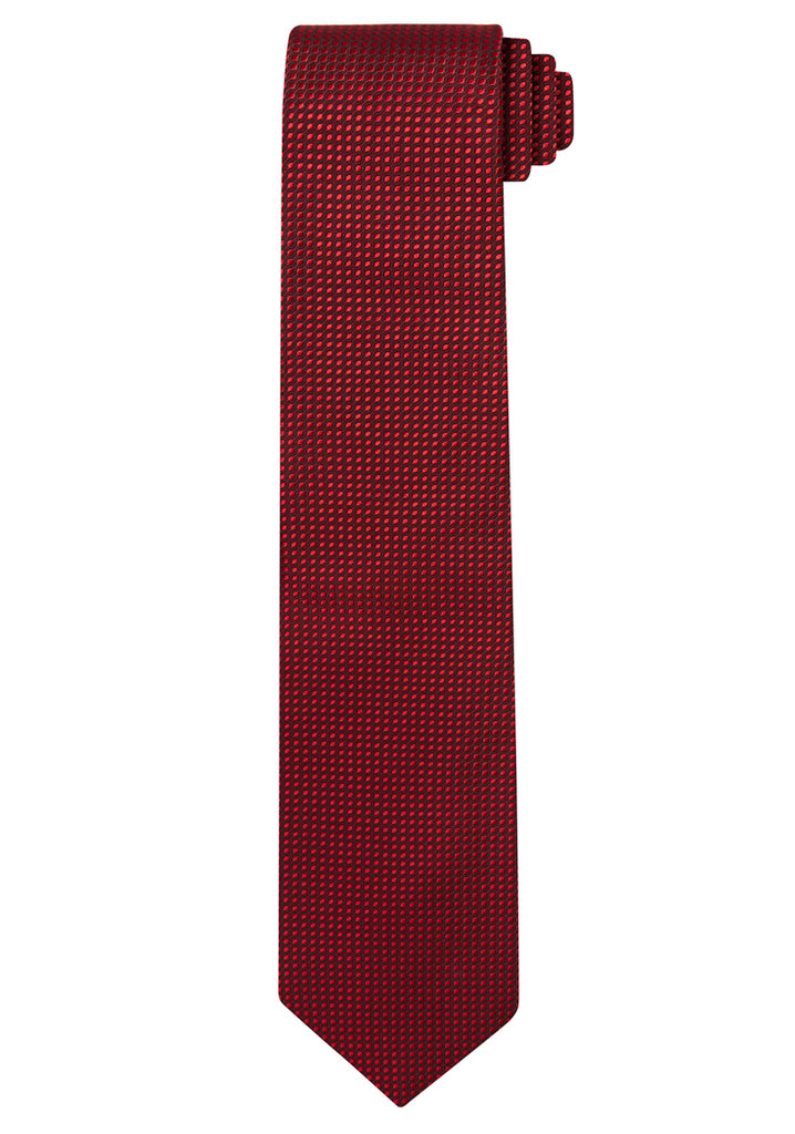 Rose Jacquard Optic Solid Tie