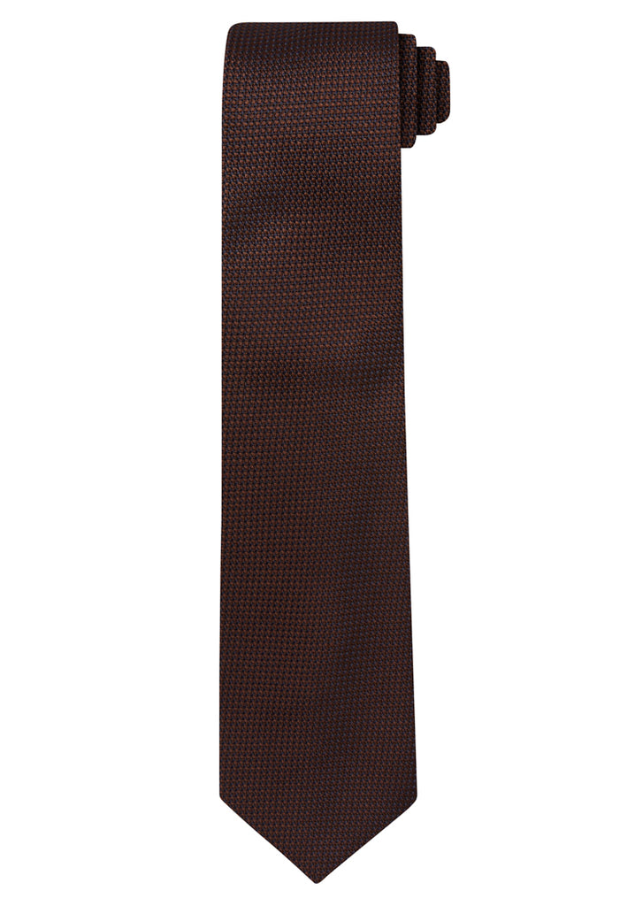 Brown Jacquard Grenadine Solid Tie