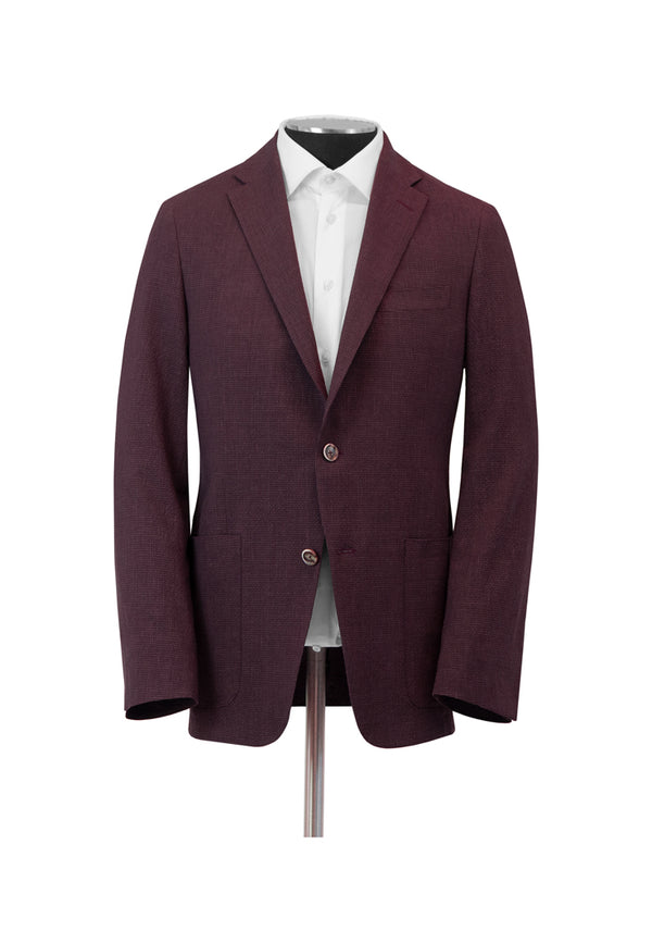 Burgundy Textured Weightless Jacket