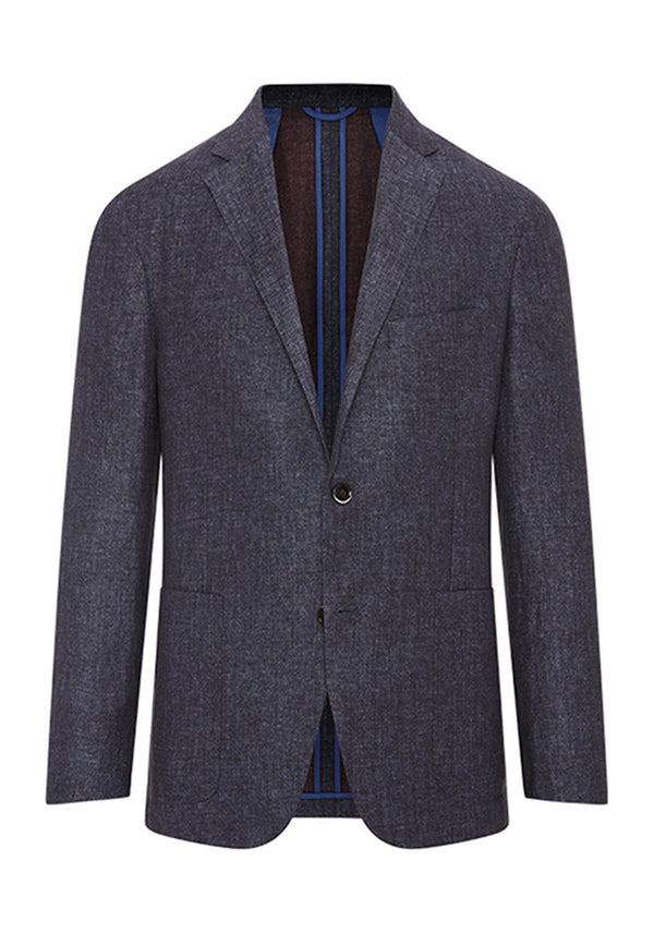 Hickey Freeman Blue Herringbone Weightless Jacket