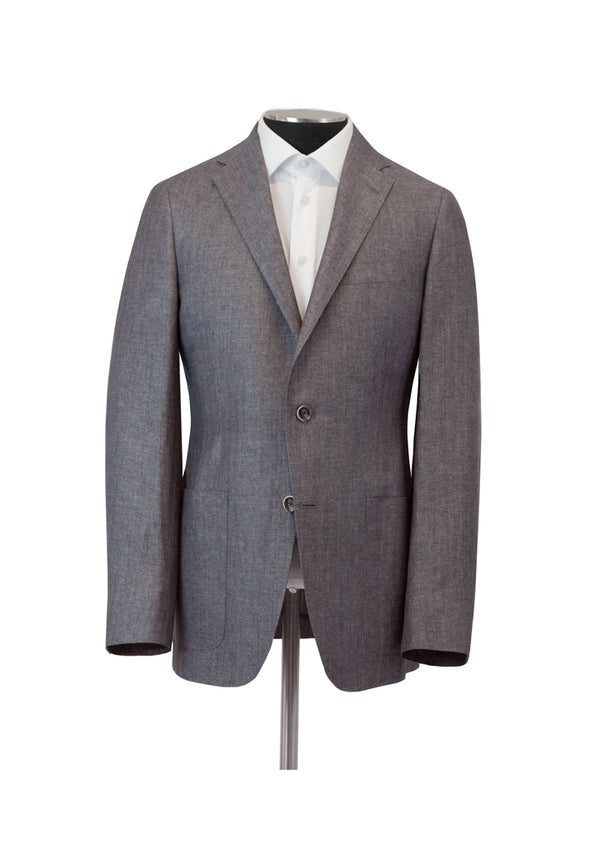 Grey Herringbone Weightless Jacket