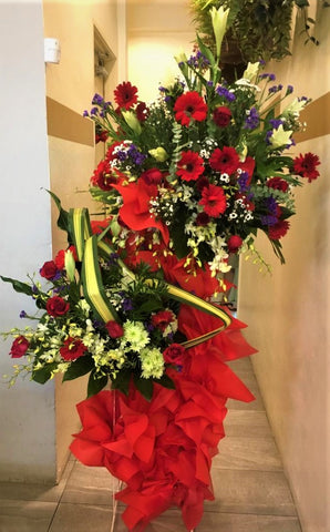 Opening Flower Stand All Merah