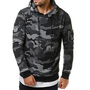 NIBESSER 2018 Camouflage Hoodies Men Sweatshirt Hip   Male Hoody Zipper Sweatshirt Brand  Autumn WinterMens Camo Pullover 3XL