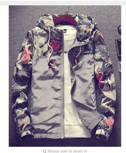 Load image into Gallery viewer, Grandwish Floral Bomber Jacket Men/Women Hip Hop Slim Flowers Pilot Bomber Jacket Coat Men's Hooded Jackets Plus Size 4XL,PA571