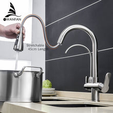 Load image into Gallery viewer, Kitchen Faucets torneira para cozinha de parede Crane For Kitchen Water Filter Tap Three Ways Sink Mixer Kitchen Faucet WF-0195