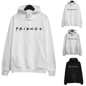 Adult Unisex Women Letter FRIENDS Printing Hoodie Jumper Hooded Jacket Sweatershirt Tracksuit Pullover