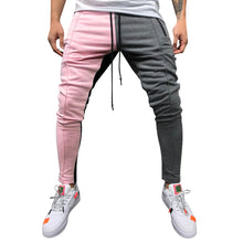 Load image into Gallery viewer, Men's joggers pants Loose Patchwork Lace Sweatpant Trousers Jogger Cotton Sweatpants High quality pantalones hombre joggers men