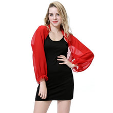 Load image into Gallery viewer, Women Long Sleeve Shawl Chiffon Casual Open Front Swimsuit Bikini Cover Up Beach Dress Sunscreen Beach Shawl Stole Wraps