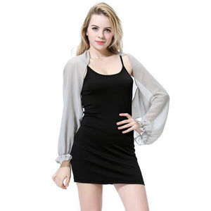 Women Long Sleeve Shawl Chiffon Casual Open Front Swimsuit Bikini Cover Up Beach Dress Sunscreen Beach Shawl Stole Wraps