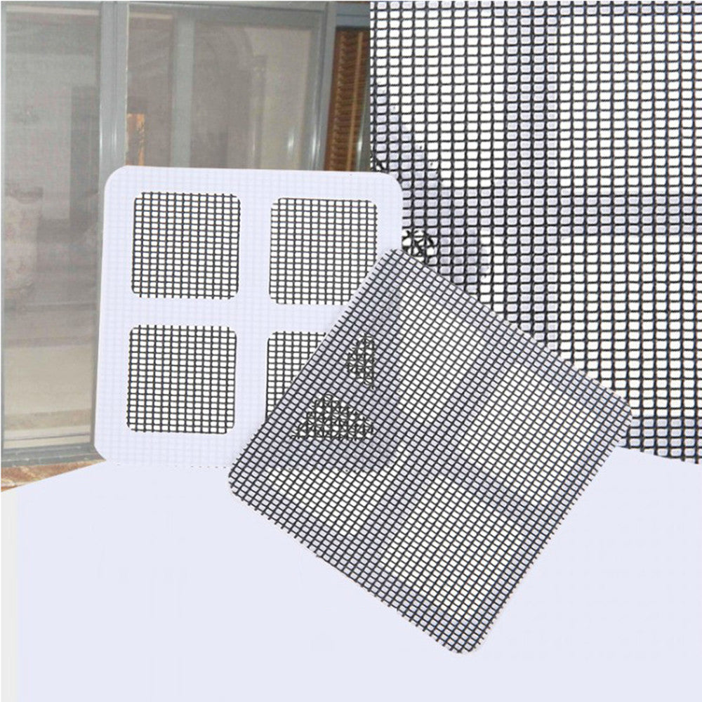Anti-mosquito Mesh Sticky Wires Window Door Screen Repair Patch Adhesive Repair Kit Anti Mosquito Fly Bug Accessories Fix 5Pcs