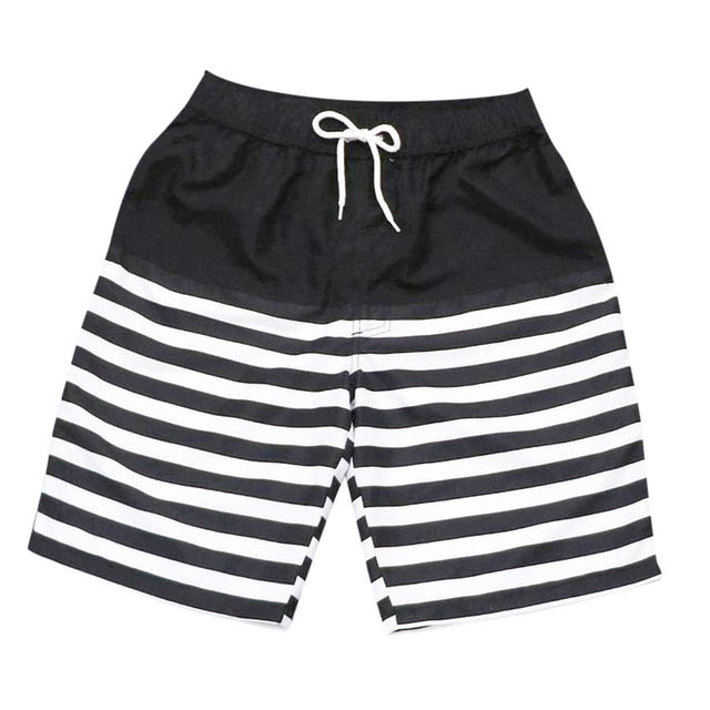 Color stitching stripe Watershort Men's Shorts Swim Trunks Quick Dry Beach Surfing calcao short masculino  Running Swimming