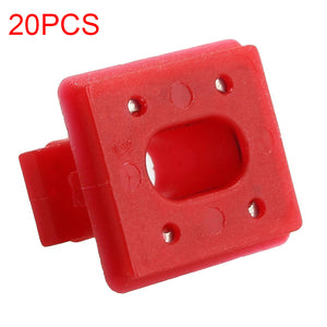 20pcs Interior Panel Fixing Buckle for BMW E46 / E65 / E66 / E83N Dashboard Dash Trim Strip Clips Red Insert Grommets