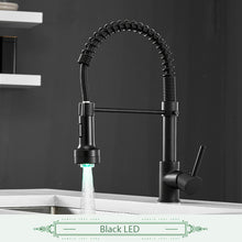 Load image into Gallery viewer, Spring Style Kitchen Faucet Brushed Nickel Faucet Pull Out Torneira All Around Rotate Swivel 2-Function Water Outlet Mixer Tap