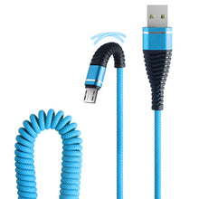 Load image into Gallery viewer, 2019 1.2 M Micro USB Phone Cable Fish Tail Spring Durable Cable Data Fast Charging For Android Phone Universal Cables #YL5