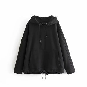 Withered 2019 BTS oversize hoodie Sweatshirts hooded Cashmere loose kangaroo solid hooded fashion Women's hoodie tops plus size