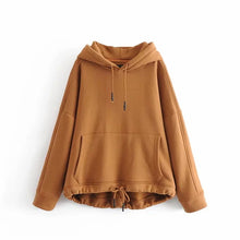 Load image into Gallery viewer, Withered 2019 BTS oversize hoodie Sweatshirts hooded Cashmere loose kangaroo solid hooded fashion Women's hoodie tops plus size