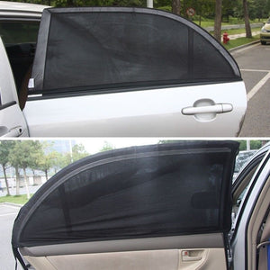 2Pcs Car Auto Sun Shade Cover Rear Side Window Kids Baby 100*52cm UV Protection Block Mesh Car Rear Side Window Sun Visor Shade