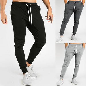 Mens Casual Fitness Patchwork Bodybuilding Pocket Skin Full Length Sport Pants Trouser Straight Leg Slim Fit Loose Casual Jogger