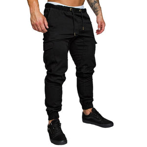 10 Colors 2019 Plus Size Men New Casual Pants Sporting Joggers Trousers Black Fitness Gym Clothing Pockets Leisure Sweatpant 4XL