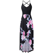Load image into Gallery viewer, Vestidos Verano Women Summer Sexy Strappy Off Shoulder Backless Printing Bohe Long Dress Beach Sundress Women Summer Dresses