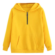 Load image into Gallery viewer, CHAMSGEND female sweatshirts Yellow Womens hoodies Long Sleeve Hoodie Sweatshirt Hooded Pullover With Pocket 2018 C30828