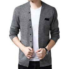 Load image into Gallery viewer, 2019 Hot Sell Middle- Long length Mens Solid Sweater Cardigan Male Casual spring Autumn pure color cardigan sweater